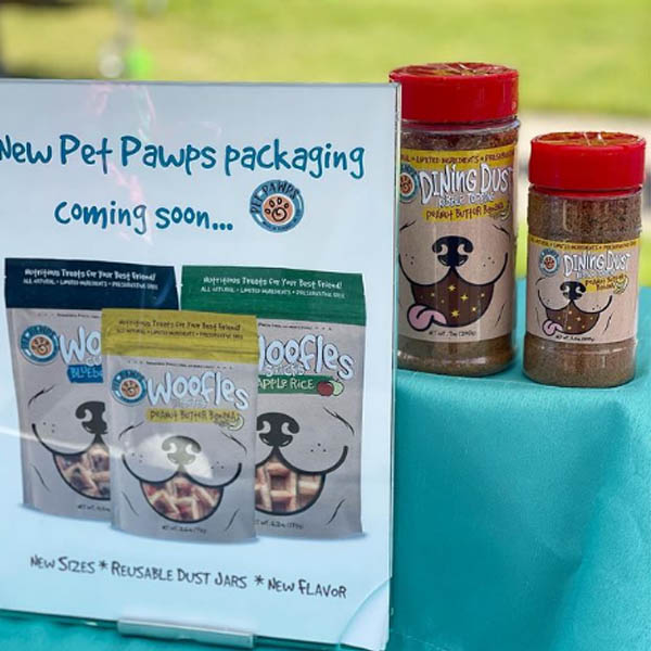 Pet Pawps Woofle Sample Packaging