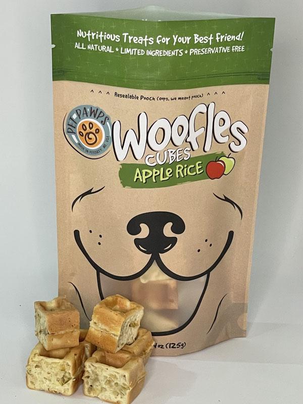 Pet Pawps Apple Rice Woofles Cubes Dog Treats