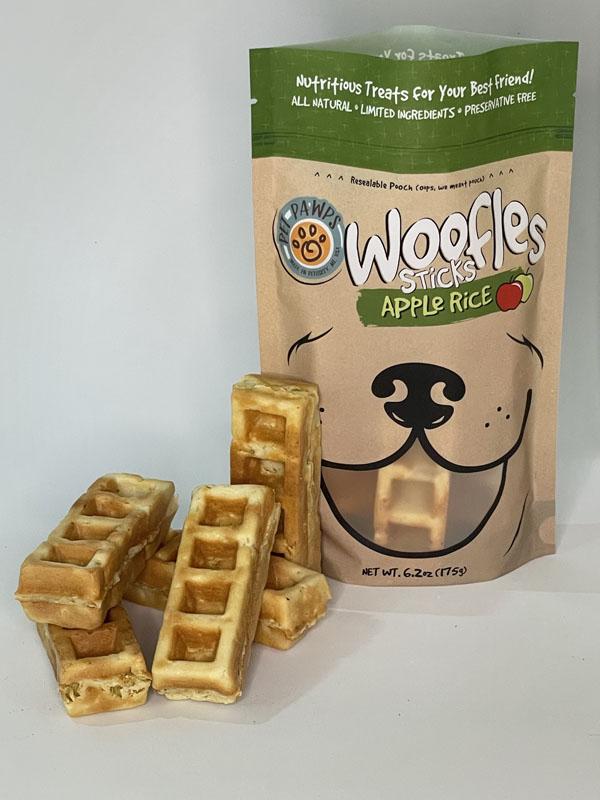 Pet Pawps Apple Rice Woofles Sticks Dog Treats