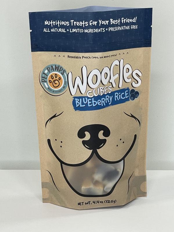 Pet Pawps Dog Treats Blueberry Rice Cubes