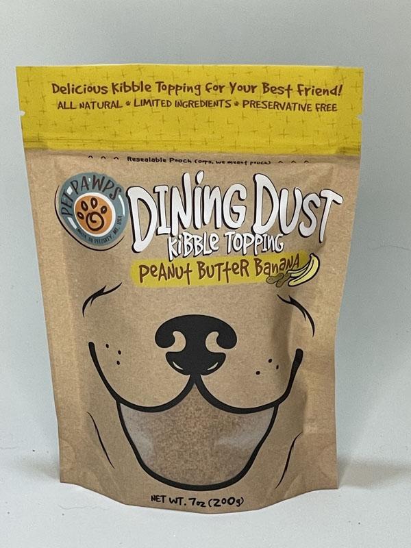 Pet Pawps Dining Dust Peanut Butter Banana Refill Bag