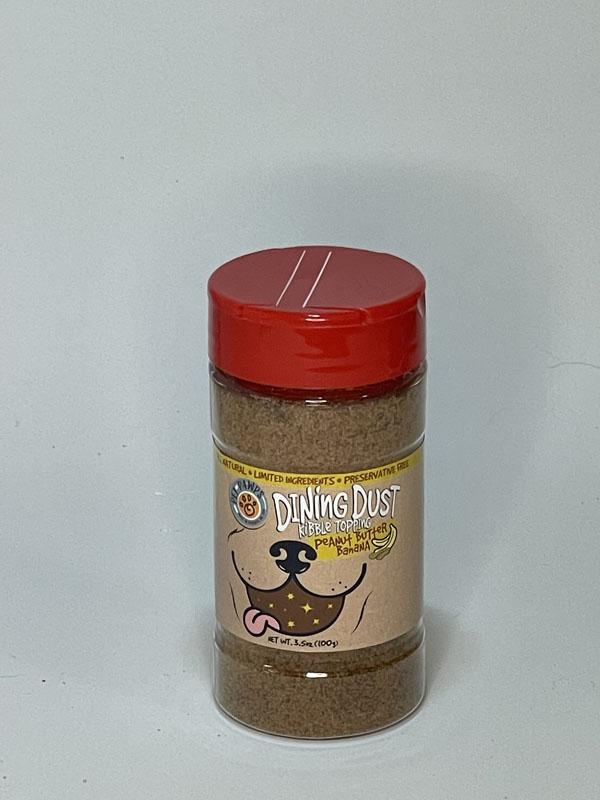 Pet Pawps Peanut Butter Banana Dining Dust Small Shaker Jar