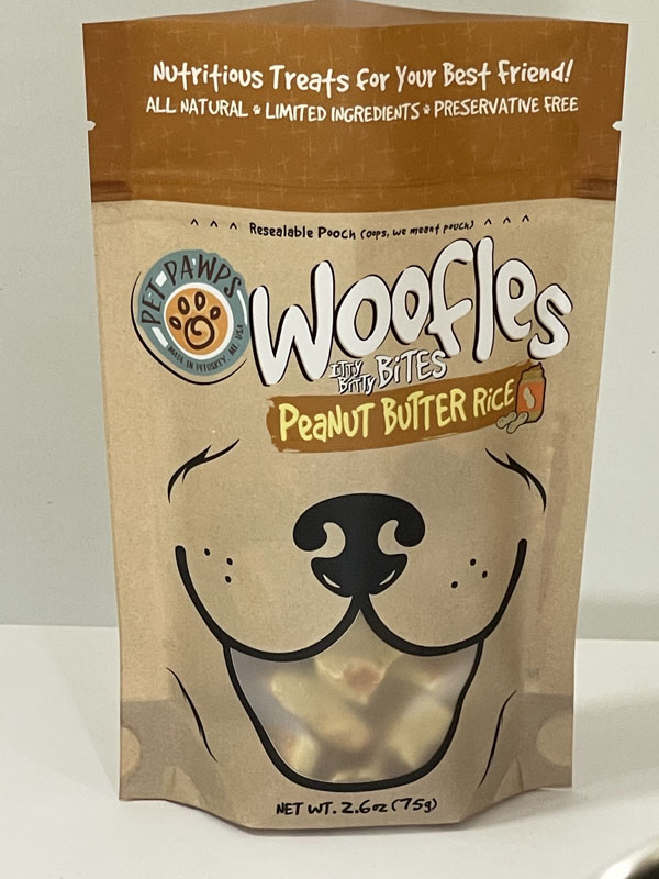 Pet Pawps Dog Treats Peanut Butter Rice